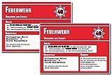 Einladungskarten zum Geburtstag (60 Stück) Feuerwehr Feuerwache Geburtstagseinladungen