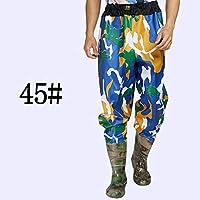 Muchen Wader 75s - Vadeador de pesca con cintura alta con pantalones de vadeo, botas de nailon + PVC para pesca al aire libre A345, tamaño 45