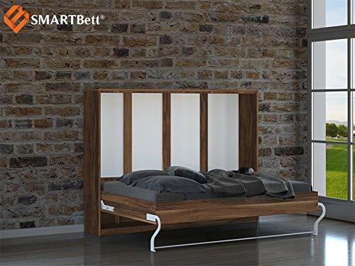 SMARTBett horizontal Klappbett Gästebett Schrankbett , Liegefläche 140x200cm, Pflaume Wallis - 2