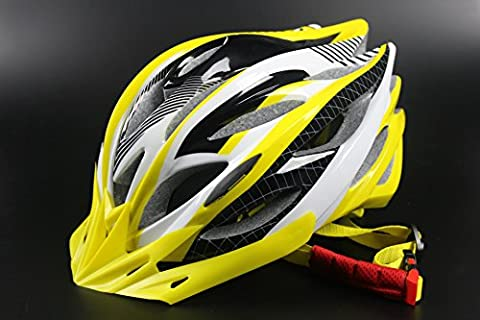 HAOXUAN Helmets Bicycle Helmet Riding Helmet Ultra-Lightweight Composite Road Vehicle Headlamps Mountain Helmets, Yellow One Size