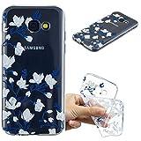 Samsung Galaxy A5 (2017) Cover Custodia Protezione di Carols, Silicone Trasparente Sottile Case, Gomma Morbido Cellulare Ultra-Slim Protettiva Bumper Guscio per Samsung Galaxy A5 (2017) (5,2 Zoll) - magnolia