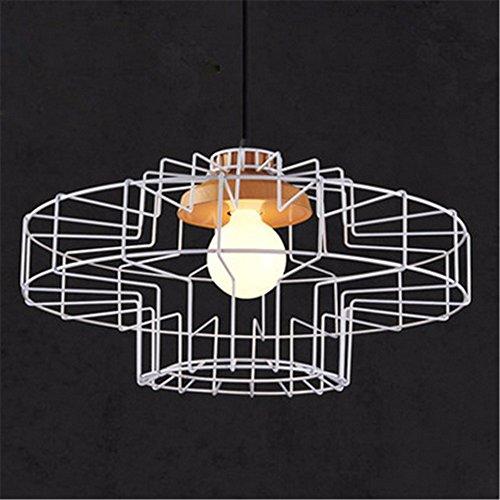 PC colorato Birdcage Ciondolo lampada scandinavo moderno minimalista arte ferro luce pendente Ristorante creativo si (Whites Detergente)