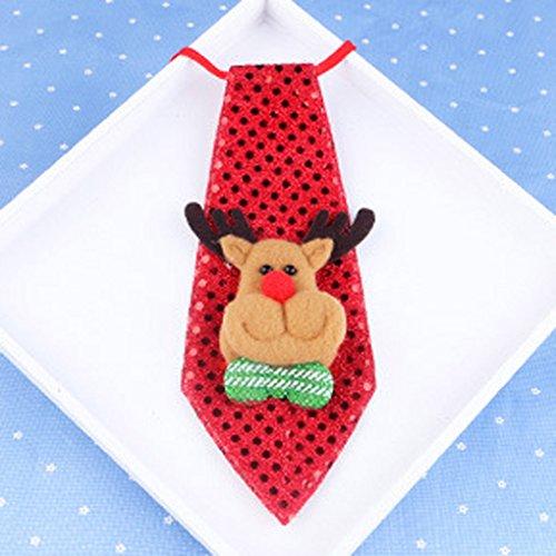 QHGstore Lichter Krawatten Party Zubehör Jungen Krawatte Pre tied Hals Bindung Krawatte für Kinderkostüm Elf & Charged (Keine Hektik Kostüm)