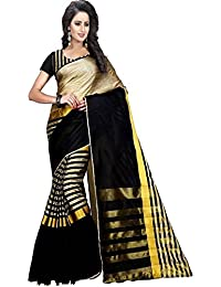 Ecolors Fab Women's Cotton Silk Saree With Blouse Piece