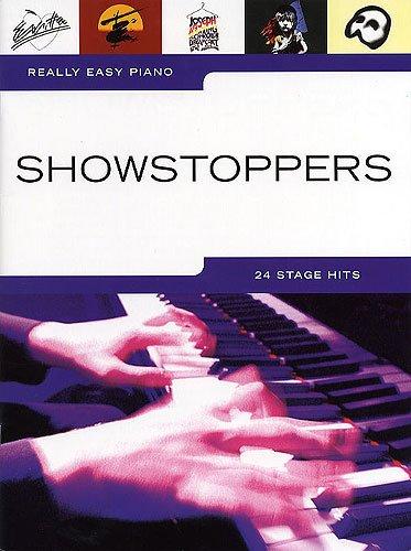Really easy piano: SHOWSTOPPERS mit Bleistift -- 24 beliebte Musical-Melodien für Klavier sehr leicht gesetzt mit Text u.a. aus CATS und DAS PHANTOM DER OPER - ideal für Anfänger und Wiedereinsteiger (Noten/sheet music) -