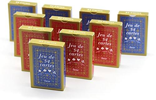 Cofalu Kim'Play - Jeu de carte - Jeu De 54 Cartes - Luxe - Lot de 10