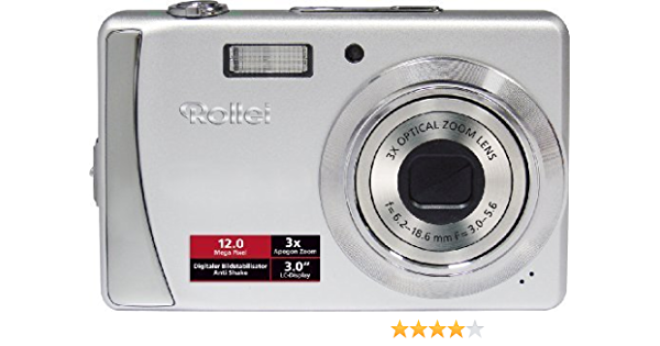 Rollei Compactline 202 Digitalkamera 3 Zoll Silber Kamera
