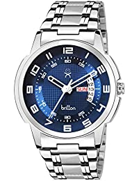 BRITTON Analogue Men's Watch (Blue Dial Silver Colored Strap)