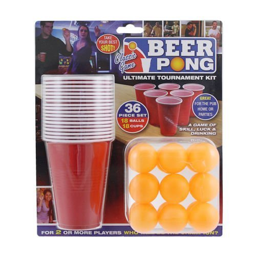 *Ardisle 36pc Beer Pong Drinking Game Set Cups Balls Partei Pub Geschenk Kit.*