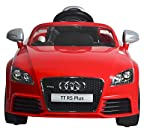 The Audi TT RS Plus ride on, battery powered car can also be driven by both remote control mode or the Manual Foot-Treat Mode by using A.Turn on the main power switch B.Forward/backward direction C.Select the gear speed D.Foot Switch. The Remote cont...