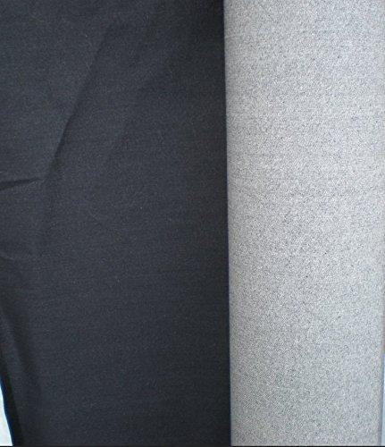Black Denim Stretch-Jeans Stoff - Meterware