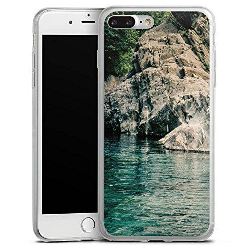 Apple iPhone X Slim Case Silikon Hülle Schutzhülle Felsen Meer Bucht Silikon Slim Case transparent