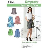 Simplicity 2314 - Patrón de costura para faldas de mujer (tallas 34-46)