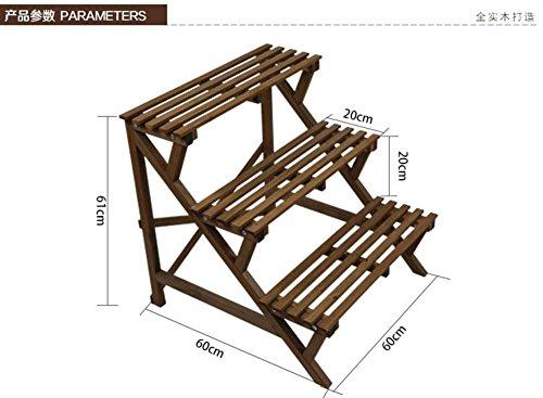 Multi-tier-flower pot rack Massivholz Balkon treppe anlage ständer Konservierungsmittel für moderne outdoor-einfache-D (Klar, Holz-konservierungsmittel)