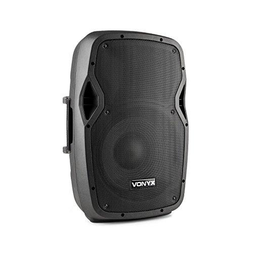 \'vonyx ap1200abt Aktiv-Lautsprecher (200W RMS Leistung, 2-Wege Lautsprecher, Hochtöner Mitteltöner von 12, Bluetooth, USB, SD, MP3, Fernbedienung)