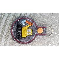 Schlüsselanhänger, Taschenbaumler, Filz, Bagger