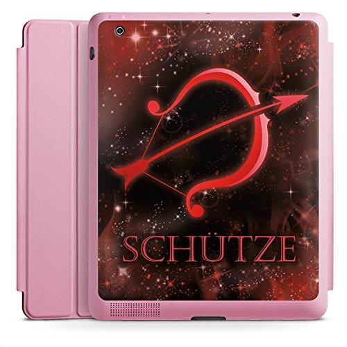 DeinDesign Apple iPad 2 Smart Case rosa Hülle mit Ständer Schutzhülle Sternzeichen Bogen Pfeil