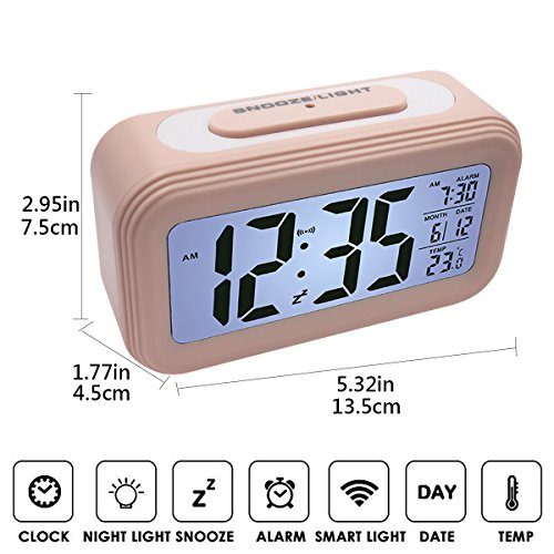 EASEHOME Réveil Digital Alarme Horloge ...