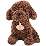 Monique Lovely Plush Poodle Dog Poodle Pup Stuffed Animals & Plush Toys Doll Plush Puppets Toys Dark Brown