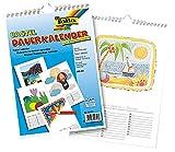 Bastelkalender Dauerkalender Foto 120g/qm DIN A4 Weiß Wandkalender Hängekalender Kinder