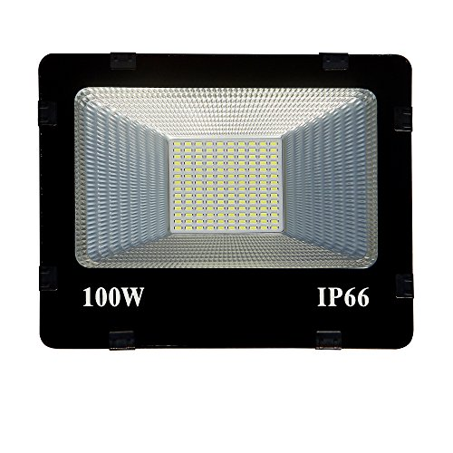 100w Slim/Thin IP66 Pure Cool White Outdoor Waterproof Flood-100 Watt (pack Of 1)