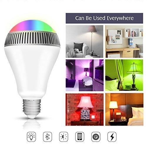 Zoom IMG-3 lampadina bluetooth altoparlante morpilot led