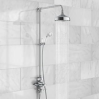 iBathUK Traditional Thermostatic Exposed Mixer Shower Set Chrome 8