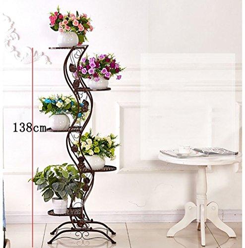 WW Blumen-Gestell-Blumen-Gestell-europäischer einfacher Balkon-Eisen-Blumen-Gestell / multi-Storey Innen- und Metallständer im Freien im Freien vertikales Blumen-Gestell,CCC