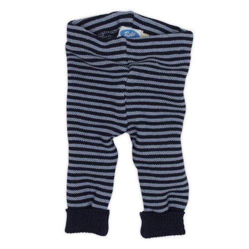 Reiff Relax Baby Leggings in corda 100% Merino-lana vergine biologica marine und hellblau