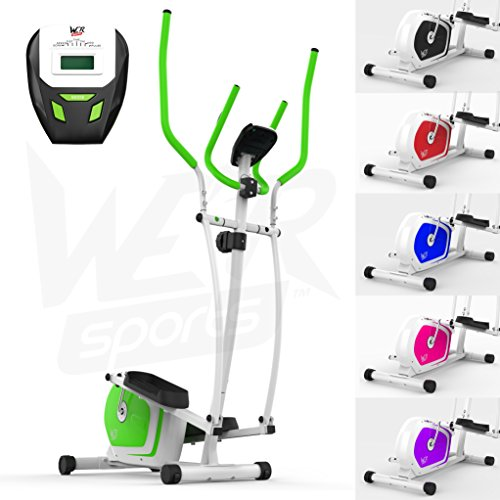 We R Sports Elliptisch ?berqueren Trainer & ?bung Fahrrad 2-in-1 Zuhause Cardio- Training (Gr?n)