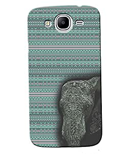 Fuson Blue Elephant Pattern Back Case Cover for SAMSUNG GALAXY MEGA 5.8 - D3965