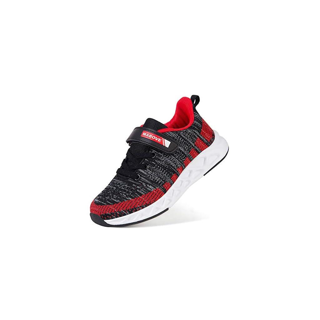 Running Shoes Child Sports Walking Shoes Fashion Comfortable – 4 UK, Yf62 Grayred