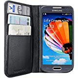 Artwizz Wallet Leder-Etui mit Kartenfächern für Samsung Galaxy S4 mini - elegante Schutz-Hülle aus strapazierfähigem & genarbtem Rindsleder - Case designed in Berlin - schwarz - 4814-1242
