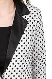 TEXCO White Polka Dot Summer Women Blazer