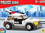 CUCUBA 11819 Teorema Police Car Building Kit 69 Pieces Fully Compatible With Bricks Of Other Leading Brands Like Lego 3+Years Old