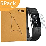 6 Stück Fitbit Charge 2 Folie,Yica Extrem HD PET Film Panzerfolie Display Schutzfolie Displayschutzfolie Displayschutz Screen Protector für Fitbit Charge 2(#01)
