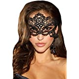 Shirley of Hollywood Number 90348 One Size Black Venice Mask