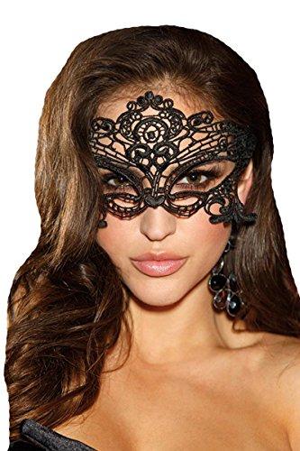 Preisvergleich Produktbild Shirley of Hollywood 90348Schwarze Venedig-Maske, Einheitsgröße