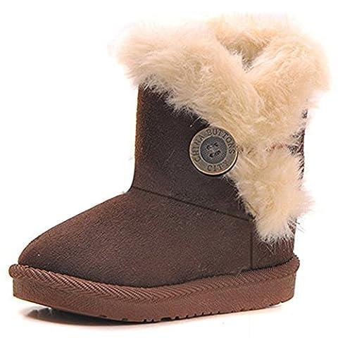 Mädchen Wärme Schlupfstiefel Kinder Gepolsterten Schuhe Baby Halbschaft Boots Gefüttert