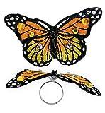 Ring Schmetterling, sortierte Farben, Karneval, Accessoire (orange)