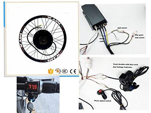 Kit de conversión de bicicleta eléctrica NBPower 48 V -72 V 26 pulgadas  5000 W, Sabvoton 72 V 100 A, controlador de onda sinusoidal, potente 5000 W