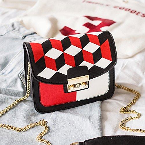 Weibliches paket Einzelne Schulter Schräge Kollision farbkette kleines paket Rot