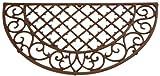 Edle Landhaus Stil Gusseisen Fußmatte, Fußabstreifer, Türmatte, Fußabtreter, Maße 66,5 x 34 x 1,8 cm