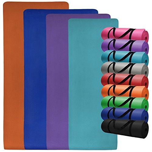 Yoga-Matte in vielen verschiedenen Größen und Farben rutschfest phthalatfrei für Gymnastik Turnen Pilates extra dick, Farbe:Power Red;Maße:180 x 60 x 1.5 cm