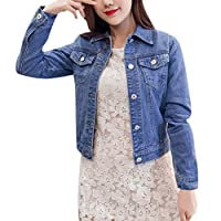 Women Sweatshirt Coat, Ladies Solid Long Sleeve Casual Denim Buttons Blazer Jeans Jacket Cardigan Coat