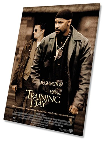Training Day Poster Film Movie Leinwand Kunstdruck gerahmt 50,8x 76,2cm