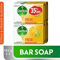 Dettol Fresh Anti-Bacterial Bar Soap 165g Pack Of 4 at 35% Off