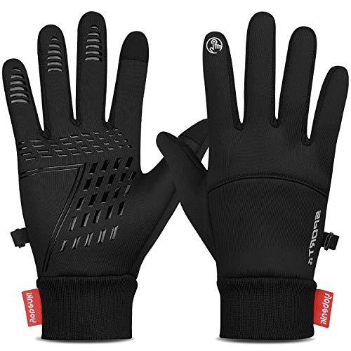 Yobenki Fahrradhandschuhe Winterhandschuhe wasserdichte Touchscreen Handschuhe Warm Anti-Rutsch Laufhandschuhe Running Handschuhe für Männer Frauen zum Radfahren Wandern Klettern Outdoor Aktivitäten