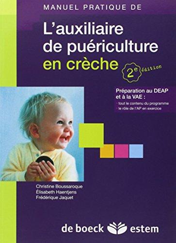 L'auxiliaire de puériculture en crèche - Pr�...