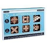 Tosbess 6er Set Knobelspiele für Erwachsene – Geduldsspiele aus Holz – 3D Holzpuzzle – Knobel Würfel – IQ Puzzle – Logikspiele – Reisespiele für Kinder